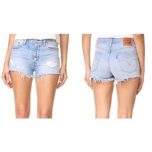 NWT Levi's 501 Light Cutoff Jean Shorts
